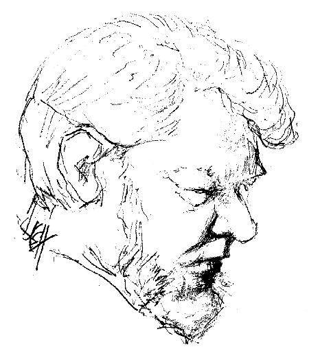Martin Wheeler drawn by Elisabeth Wheeler